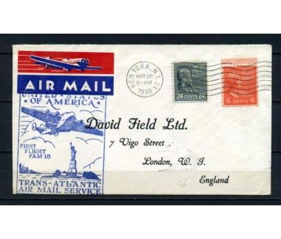 ABD 1939 Ö.D. NEW YORK - LONDRA  İLK UÇUŞ (150515)