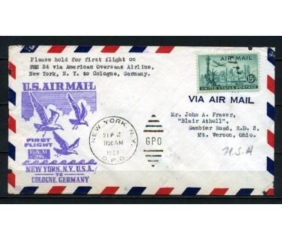 ABD 1950 Ö.D. S.NEW YORK - KÖLN İLK UÇUŞ (150515)