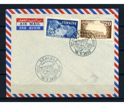 CUMH.FDC 1958 PAMUKKALE TURİSTİK SÜPER (210515)