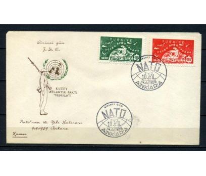 CUMH.FDC 1959 NATO'NUN 10.YILI KAMER (210515)