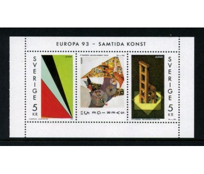 İSVEÇ  ** 1993 EUROPA CEPT BLOK SÜPER (090515)
