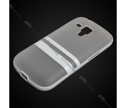 Samsung Galaxy Trend Plus Kılıf Çerçeveli Silikon - Beyaz