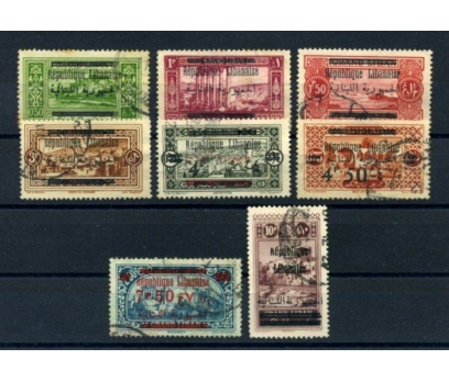 LÜBNAN */0 1928 KLASİK SERİ  8 VALÖR SÜPER(010615)