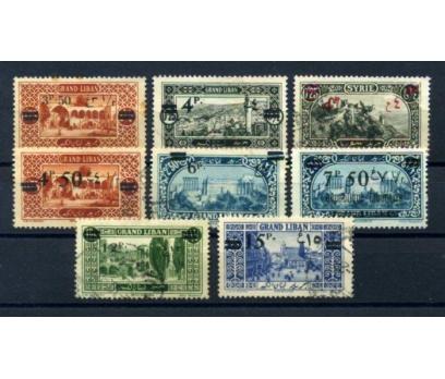 LÜBNAN  DAMG. 1926 SÜR. SERİ 8 VALÖR SÜPER(010615)