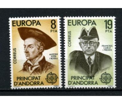 İSP.ANDORRA ** 1980 EUROPA CEPT TAM SERİ(110615)