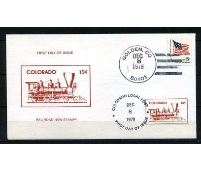 ABD 1979 FDC COLORADO & TREN SÜPER (220715)