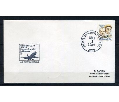 ABD 1980 İLK UÇUŞ ATLANTA & FRANK. SÜPER (220715)