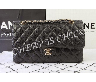 CHANEL Çanta 2:55 MEDIUM FLAP BAG SİYAH CAVIAR