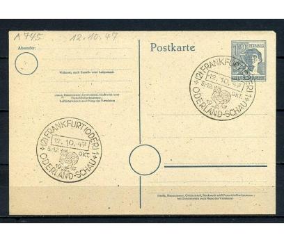 D.POST 1947 ANTİYE FRANKFURT Ö.DAMGALI(270715)