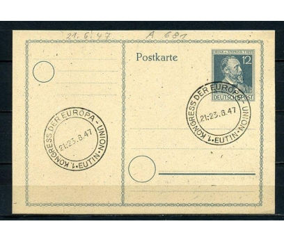 D.POST 1947 ANTİYE H.V.STEPHAN DAMGALI  (280715)