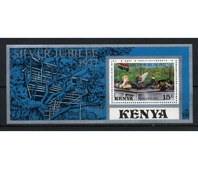 KENYA ** 1977 KRALİÇE 25.YIL BLOK (160715)