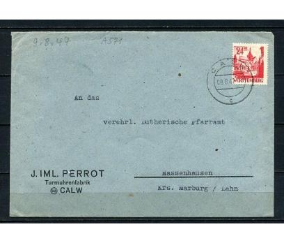 WÜRTTEMBERG 1947 POST.G.ZARF SÜPER  (270715)