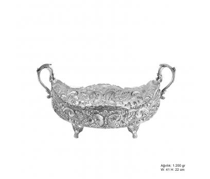 Gül Desenli Gümüş Boller