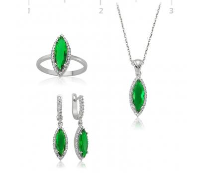 Gümüş Yeşil Mekik Bayan Set