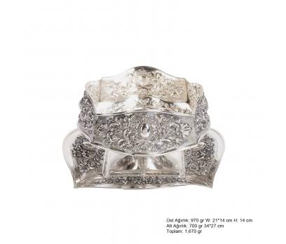 Karanfil ve Papatya Desenli Gümüş Boller