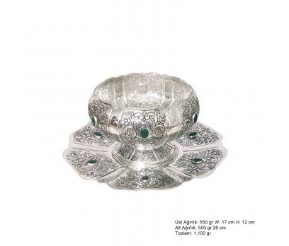 Lale Desenli Gümüş Boller