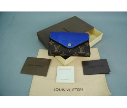 LOUIS VUITTON COMPACT WALLET SAKS MAVİSİ