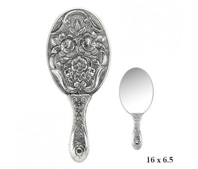 Manolya Motifli El Aynası