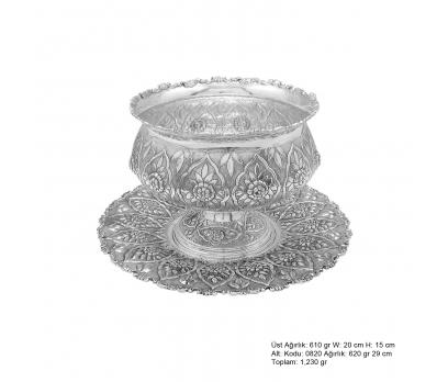 Papatya Desenli Gümüş Boller