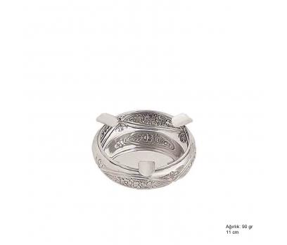 Papatya Motifli Gümüş Küllük