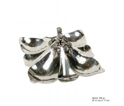 Sincap Desenli Gümüş Çerezlik