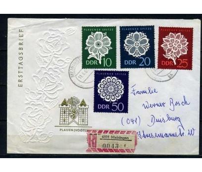 DDR PGZ 1966 DANTELLER  TEMATİK PULLU ZARF(010915)