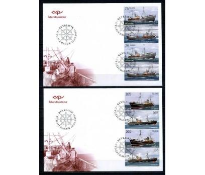 İZLANDA 2010 FDC GEMİLER 2 SERİ İLE 2 ZARF(080915)