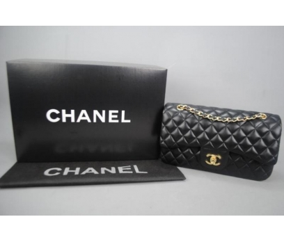 CHANEL JUMBO FLAP BAG 2,55 ORTA BOY %100 DERİ