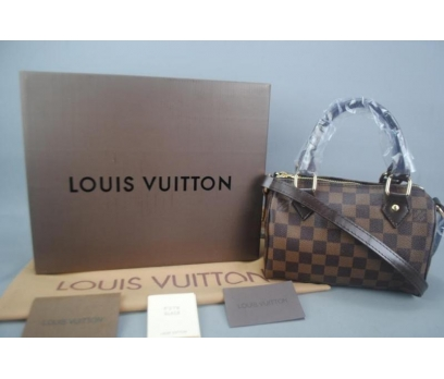 LOUIS VUITTON NANO SPEEDY DAMİER CANVAS 20 CM