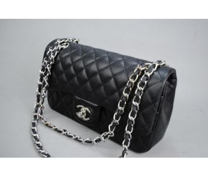 CHANEL CAVİAR FLAP BAG 2,55 ORTA BOY %100 DERİ 2