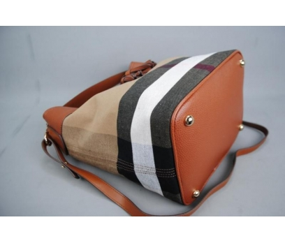 BURBERRY MEDİUM ASHBY İN CANVAS CHECK BAG 3