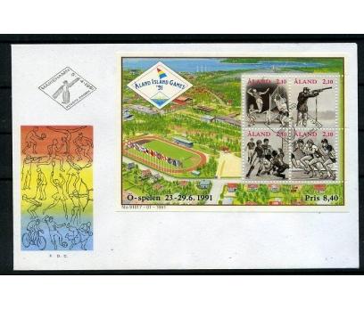 ALAND 1991 FDC SPOR BLOK PULLA SÜPER (006)