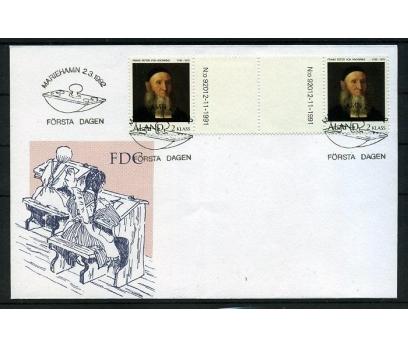 ALAND 1992 FDC TABLO KÖPRÜLÜ PULLA (006)