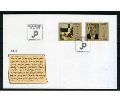 ALAND 1992 FDC TABLO & PETTERSSON SÜPER (006)