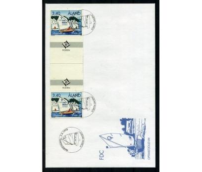 ALAND 1995 FDC OPTİMİST KÖPRÜLÜ PULLA (006)