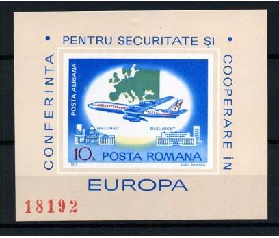 ROMANYA ** 1977 AVRUPA KONF.DANTELSİZ BLOK(005)