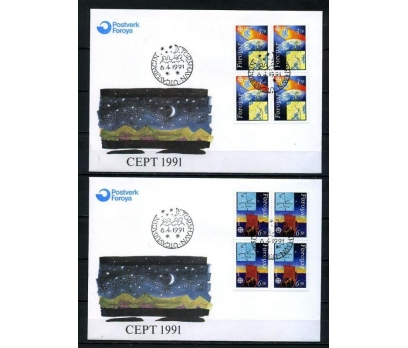 FAROE AD. 1991 FDC EUROPA CEPT DBL SÜPER (008)