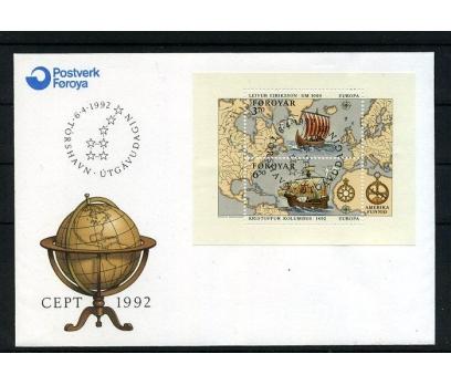 FAROE AD. 1992 FDC EUROPA CEPT BLOK SÜPER (008)