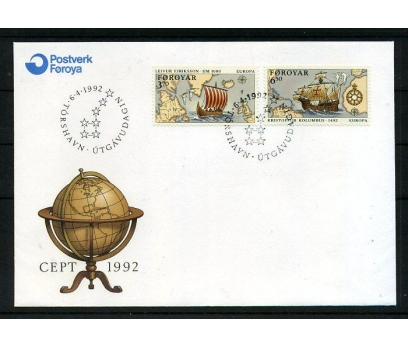 FAROE AD. 1992 FDC EUROPA CEPT SÜPER (008)