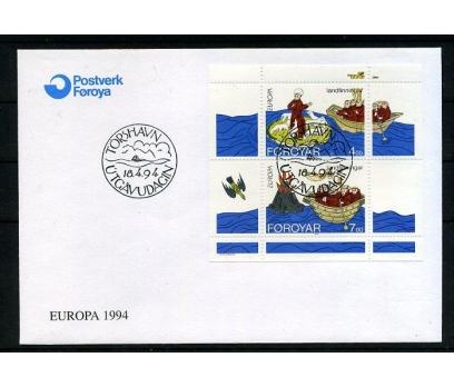FAROE AD. 1994 FDC EUROPA CEPT BLOK SÜPER (008)