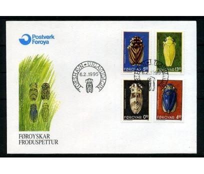 FAROE AD. 1995 FDC AĞUSTOS BÖCEKLERİ SÜPER (008)