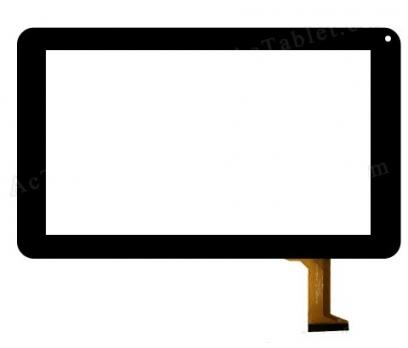Everest EverPad DC-9714 Dokunmatik Tablet Camı Siyah Ön Cam