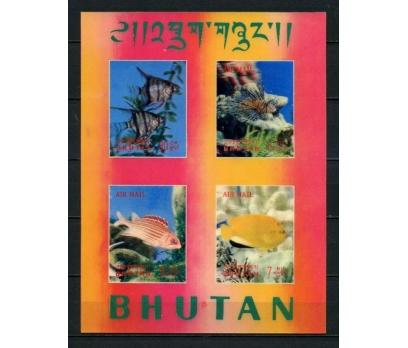 BHUTAN ** 1969 BALIKLAR 3 BOYUTLU BLOK SÜPER (012)