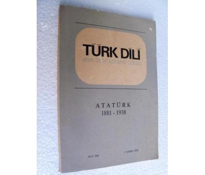 TÜRK DİLİ DERGİSİ - ATATÜRK - 254 - 1 KASIM 1972