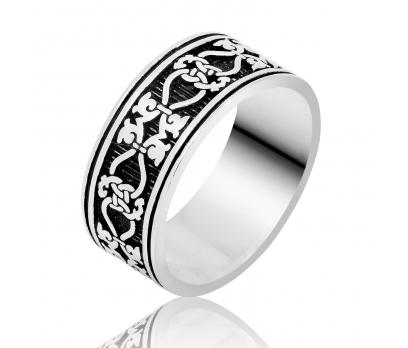 Gümüş Düğüm Desenli Erkek Yüzük