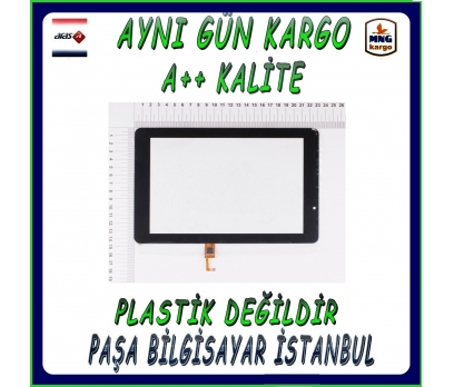 Casper Via T1E Dokunmatik Tablet Camı Siyah Tablet Dokunmatiği
