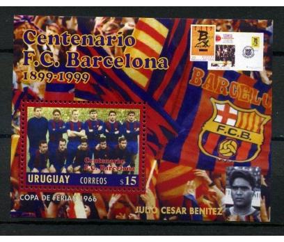 URUGUAY** 1999 FUTBOL BARCELONA BLOK SÜPER(170102)