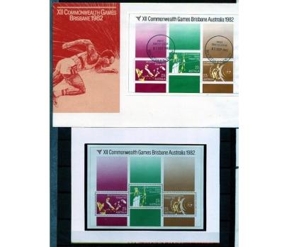 AVUSTRALYA PP & FDC 1982 COMM.OYUNLARI BLOK(AV-5)
