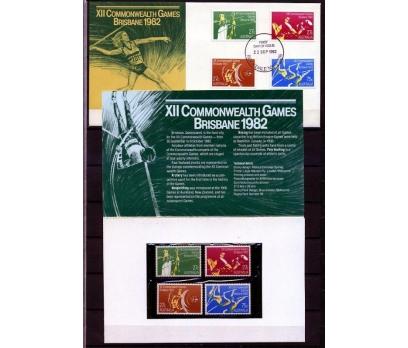 AVUSTRALYA PP & FDC 1982 COMM.OYUNLARI SÜPER(AV-5)