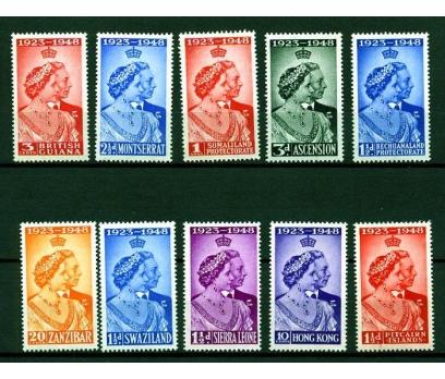 MALAYA ** 1948 KRALİÇE 25.YIL 11 VALÖR (K003)